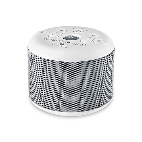 MyBaby, Deep Sleep SoundSpa White Noise Machine | 6 Sounds: Heartbeat, Soothe, Mask, Calm, Ocean & Twinkle, Twinkle | AC Adapter (Included) or 4 AAA Batteries (Not Included) | Compact & Portable by myBaby
