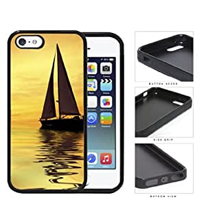 Sunset Sailboat Reflection Rubber Silicone TPU Cell Phone Case Apple iPhone 5 5s