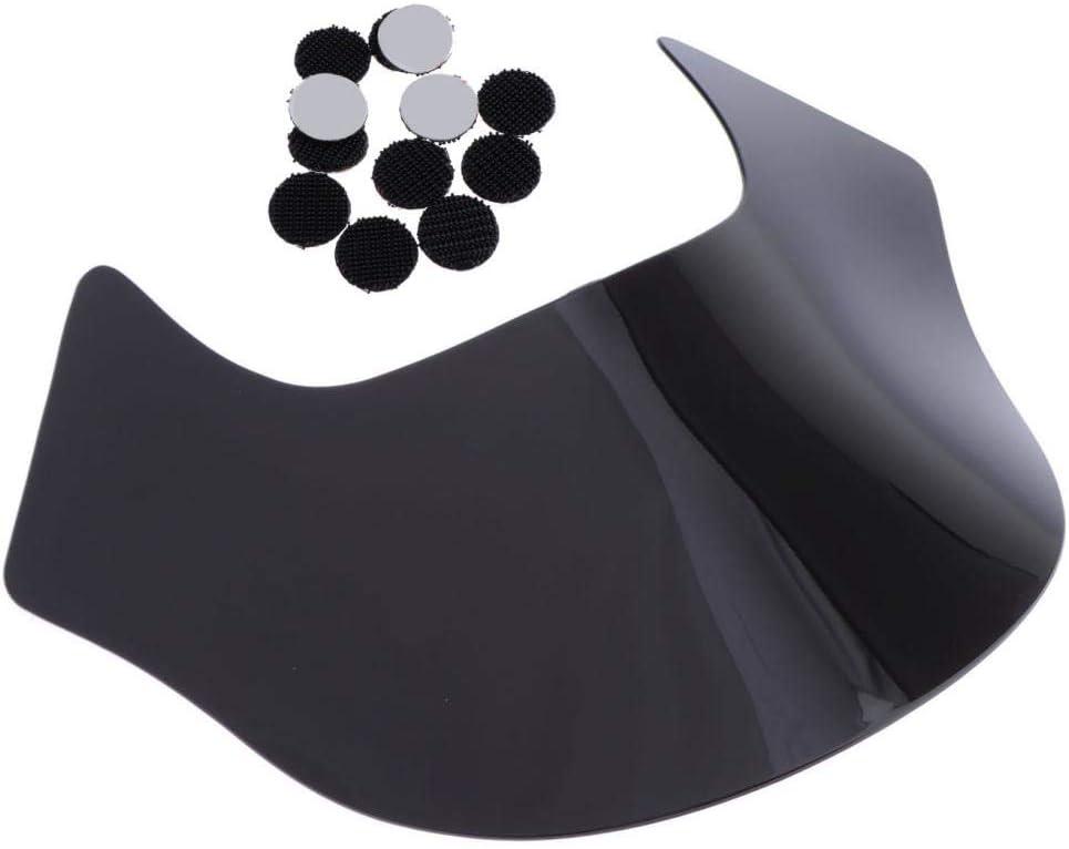 30X40.3mm Schwarz H HILABEE Windschutzscheibe Wind Screen aus Hochwertigem Kunststoff f/ür Harley Quarter Fairing