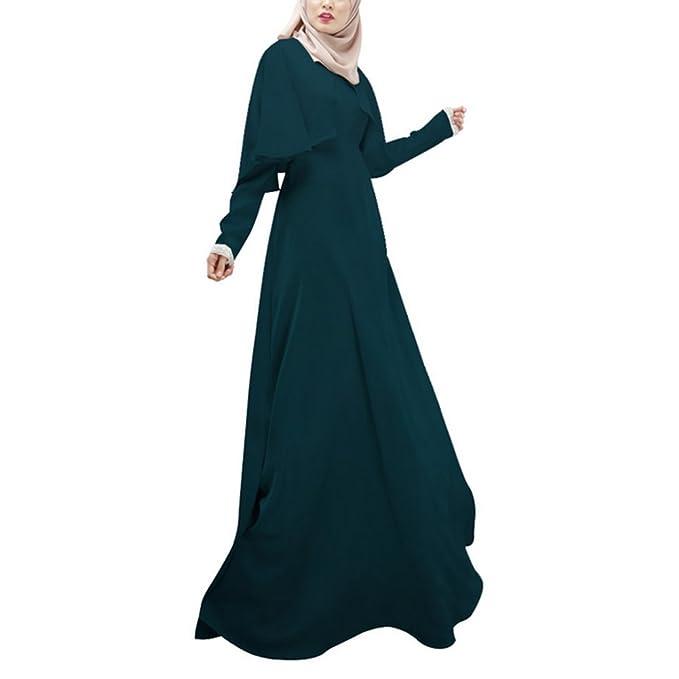 Highdas Frauen Muslim Langhülse Mantel Robe Normalgröße Maix Kleid abaya:  Amazon.de: Bekleidung