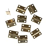 ONEONEY 10pcs Mini Cabinet Drawer Butt Hinge