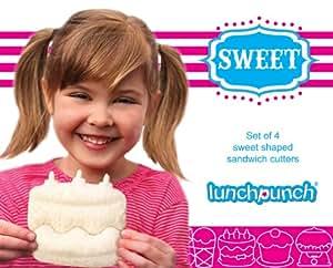 Lunch Punch Sweet Set. Sweet Shaped Sandwich Cutters (Set of 4)