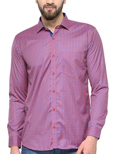 BEING FAB Red Check Slim Fit Shirt