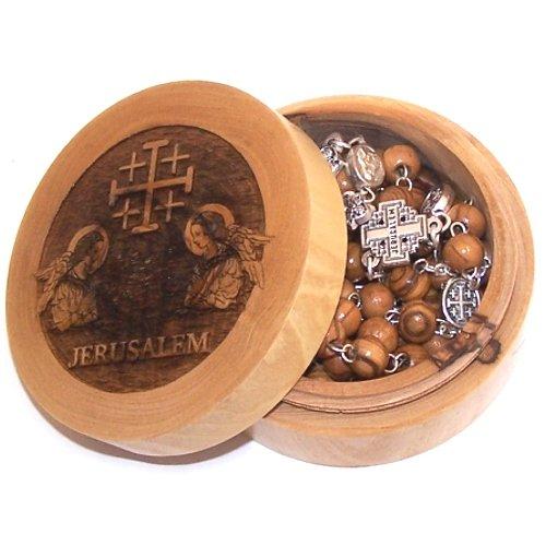 Jerusalem Cross Rosary with Jerusalem Cross box ( box : 7x3cm or 2.8x1.2 inch... by Holy Land Market