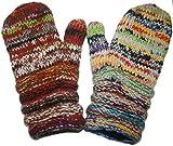 1417 MT Agan Traders Unisex Hand Knit Wool Mitten (Multi 6)