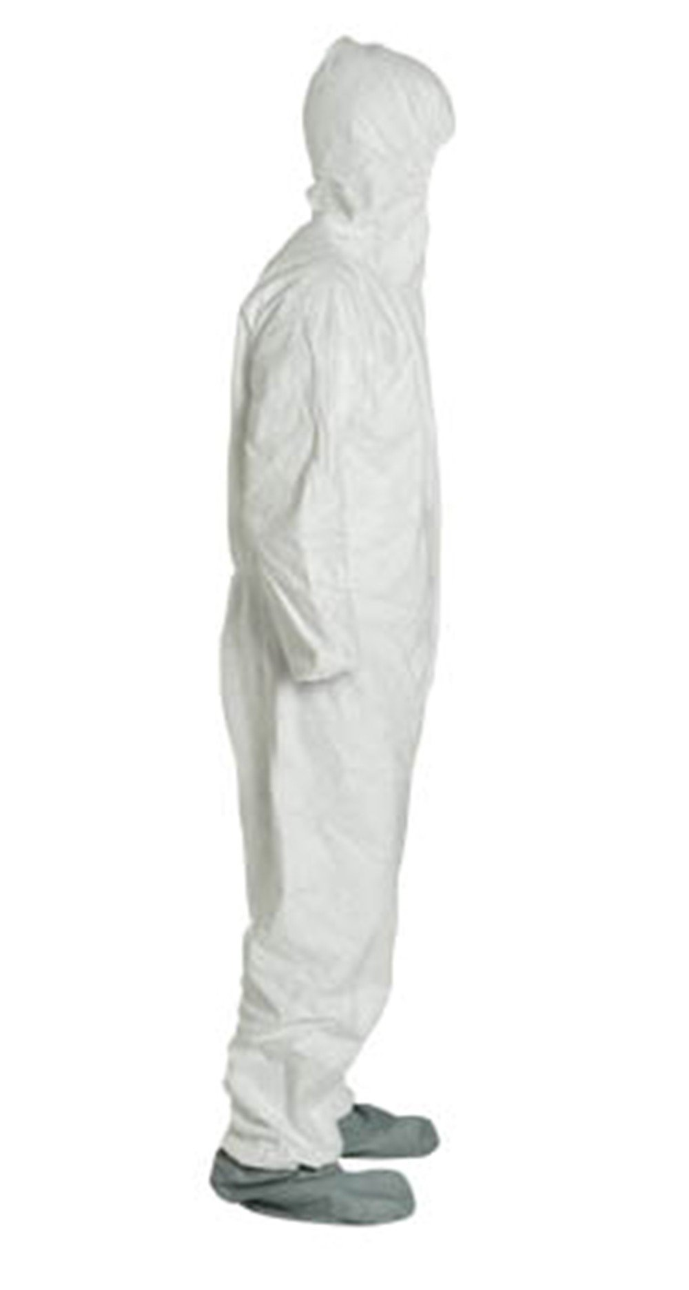 2XL Tyvek Coverall W/ Hood, Zipper, Elastic Wrist & Ankle, With Attached Booties (2XL-25 Suits / 1 Case) TY122S WH-2X-CASE by Tyvek (Image #2)