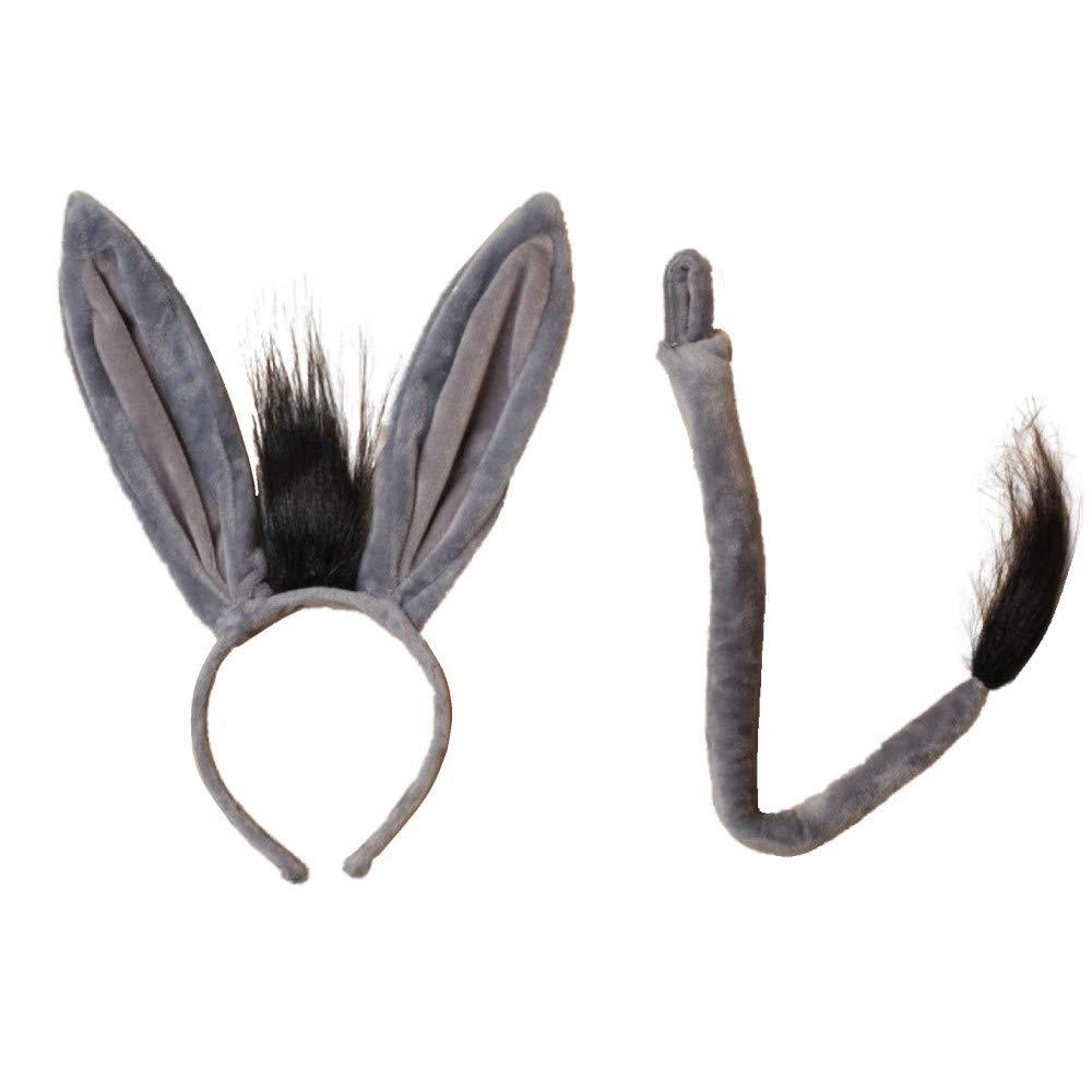 Haarreif und Schwanz für Mädchen, Esel-Ohren, für Partys