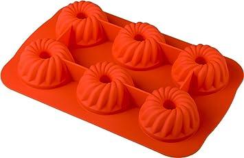 Baekka Muffin Backform Gugelhupf Orange 6er Form Silikon Backform