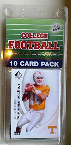 10 card pack college football tennessee volunteers different superstars starter kit