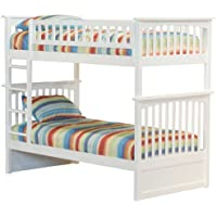 Columbia Bunk Bed, Twin Over Twin, White
