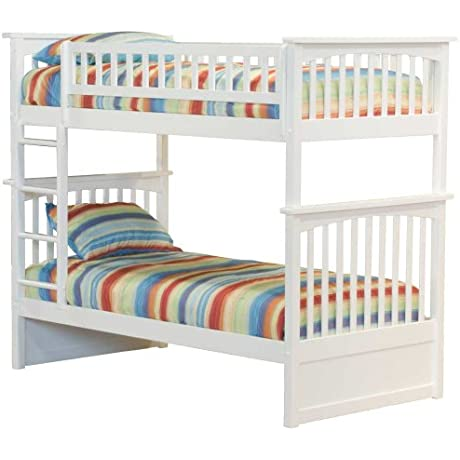 Columbia Bunk Bed Twin Over Twin White