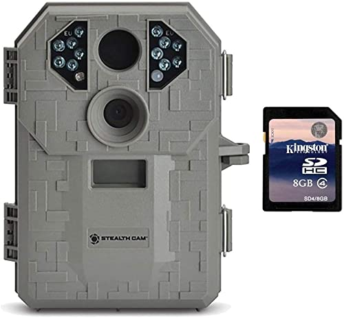 Stealth Cam P12 6MP Scouting Game Trail Camera with Video Burst 8GB SD Card