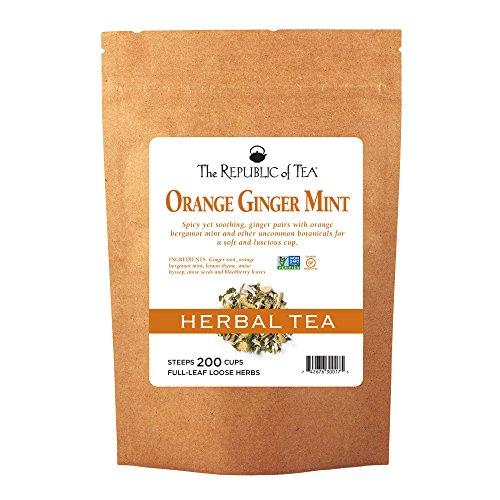 (The Republic of Tea Orange Ginger Mint Full-Leaf Tea, 1 Pound / 200 Cups)