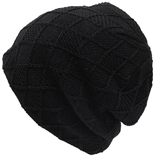 EXAS Argyle (Argyll) Knit Cap Beanie Watch Black