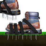 Kyпить Lawn Aerator Shoes, Tacklife Aerating Lawn Soil Sandals with 4 Aluminium Alloy Buckles, 4 Adjustable Straps, 2 Extra Spikes and Wrench -- Heavy Duty Spiked Sandals for Aerating Your Lawn or Yard на Amazon.com