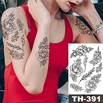 HXMAN 5pcs Chica En La Flor Con Rose Cornflower Impermeable ...