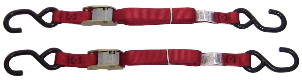 Ancra 40888-10-04 Red Original Premium Cam Buckle Tie Down, 8 Pack by Ancra (Image #1)