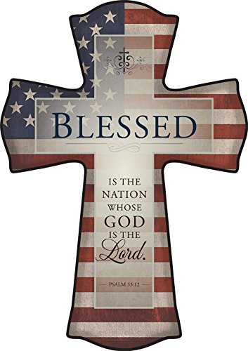 Decorative Picture Wall Cross By P. Graham Dunn (Patriotic)