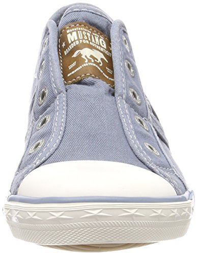 401 Sneaker Donna Mustang Infilare 807 Himmelblau Blu 807 1099 1RFZn7