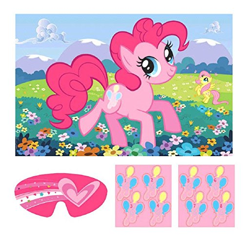 My Little Pony Friendship Party Game, Multicolor (Pin The Tail On The Pony)