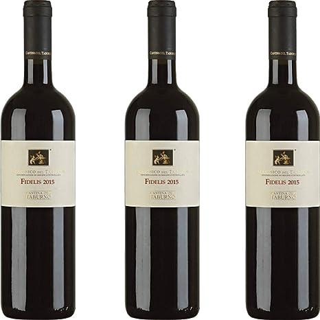 db9e4157be Fidelis Dop | Vino Aglianico del Taburno | Vino Rosso | Cantina del Taburno  | Confezione 3 Bottiglie da 75 Cl | Idea Regalo: Amazon.it: Alimentari e  cura ...