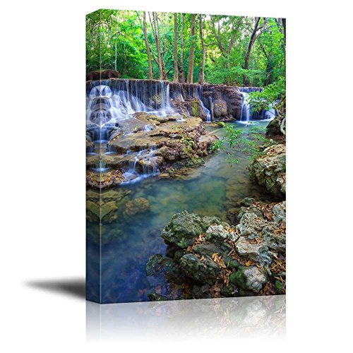 Deep Forest Waterfall in Kanchanaburi Province Thailand Home Deoration Wall Decor