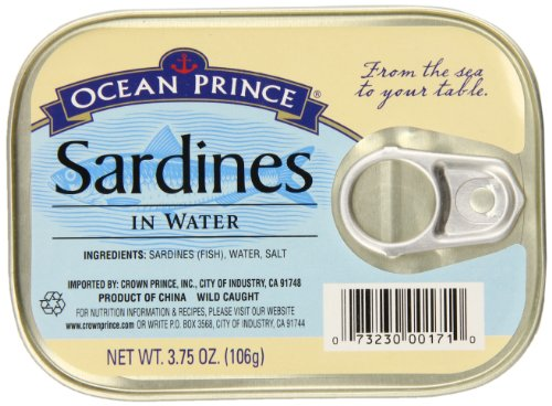 (Ocean Prince Sardines in Water, 3.75 Ounce Cans (Pack of 12))
