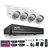 SANNCE 8CH 1080N CCTV DVR Security Camera System and (4) 720P Night Vision Surveillance Cameras IP66 Weatherproof Camera NO HDD