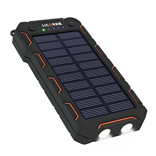 Solar Chargers,15000mAh Portable Solar Power Bank High Efficiency Sunpower Cellphone Chargers Rain-resistant Dirt/Shockproof Backup with Dual USB Port Solar Battery Charger for iPhone 7 / 6s / Plus, iPad Pro / Air 2 / mini, Galaxy S7 / S6 / Edge / Plus, Note 5 / 4, LG, Nexus, HTC and More