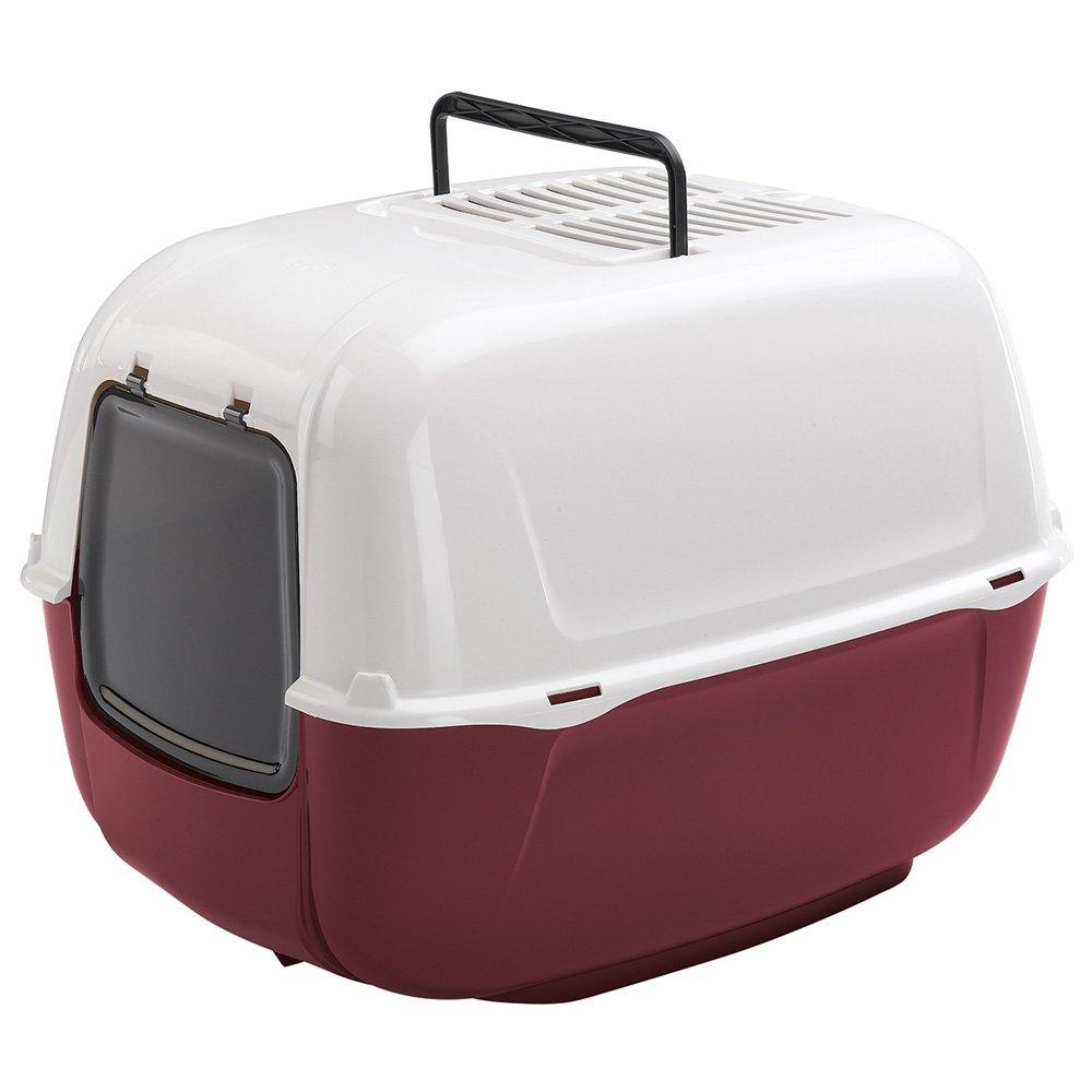 Ferplast Prima Bac à litière couvert Rouge bordeaux 52, 5 x 39, 5 x 38 cm 72053799ELW1