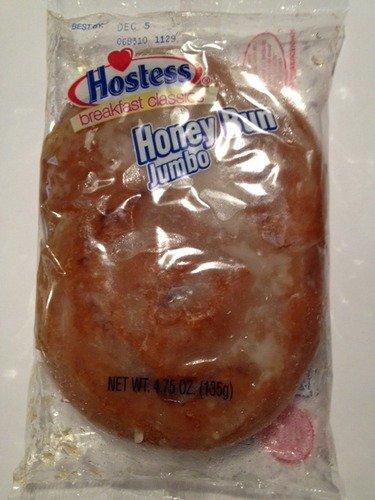 6 Pack Individually Wrapped Hostess Jumbo Honey Buns, 4.75 oz by Hostess