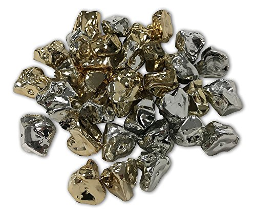 Silver and Gold Jewel Stone Table Confetti and Vase Filler Perfect for Parties and Events from Penn Plax