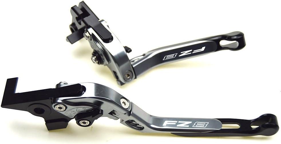 2015 in alluminio allungabili e pieghevoli accessori per moto Leve per freno e frizione lavorate a macchina a controllo numerico per vari modelli di Yamaha FZ8 2011