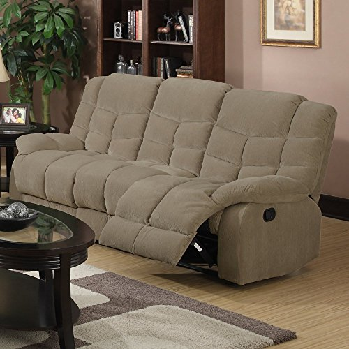 Sunset Trading Heaven On Earth Reclining Sofa – Tan
