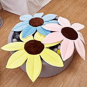 ACEHE Cute Cartoon Sunflower Flower Mat Baby Bathing Bath Seat Cushion Bathing Baby Safety Petal Pad Bath Mat