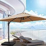 Sunnyglade 10x13ft Patio Offset Hanging Umbrella
