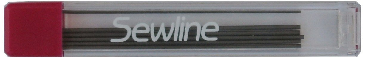 Sewline Fabric Pencil Black Ceramic Lead Refill (.09mm Graphite Quantity 6 in pack) Sewline Products FAB50006