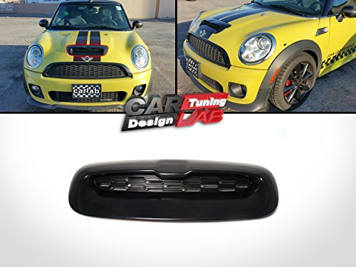 For MINI COOPER S Air Intake Hood Vent Grill R55 R56 R57 R58 ABS Glossy Black
