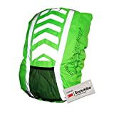 Salzmann 3M Scotchlite Reflective Backpack Rucksack Cover, for Standard Size Cyclist's Backpack, Capacity up to 36 litres, Keeps Your Bag Dry and Highly Visible in The Rain and Dark!