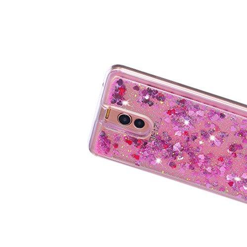 Funda Meizu M6 Note, Caselover 3D Bling Silicona TPU Arena Movediza Carcasa para Meizu M6 Note Glitter Líquido Brillar Lentejuelas Suave Transparente Cristal Protección Caso Anti Arañazos Tapa Choque  Rosado
