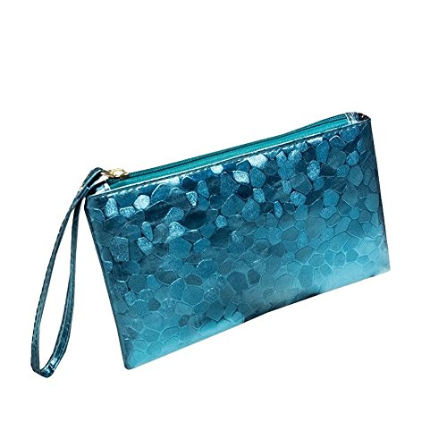 ([O-Tokyo] Wristlet Casual Clutch for Women/Cosmetic Pouch/PU Leather (Sky)