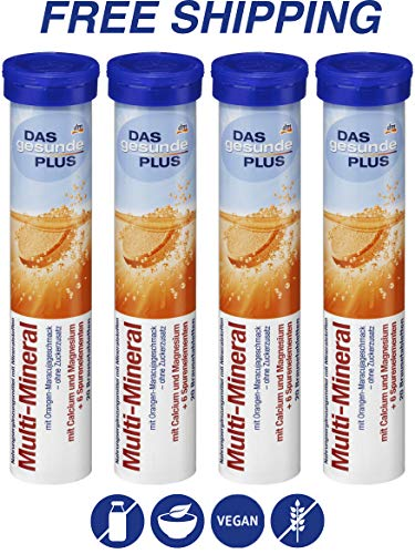 (Multi Mineral effervescent Tablets - Dietary Supplements 4 Packs x 20 pcs, Das gesunde PLUS/Germany)