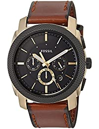 Fossil Men's FS5322 Machine Chronograph Light Brown Leather Watch