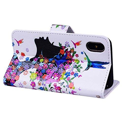 Tasche für iPhone X Hülle Case Brieftasche für iPhone X Tasche ...