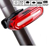 SXCtech-Bike-Tail-Light-Ultra-Bright-Red-White-Light-USB-Rechargeable-Taillight-Waterproof-USB-Rechargeable-LED-Bike-Headlight-Safety-Cycling-Warning-Light-Fits-any-Bicycles-or-Helmets