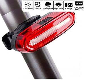 SXCtech&Trade; - Bike Tail Light Ultra Bright Red & White Light USB Rechargeable Taillight, Waterproof USB Rechargeable LED Bike Headlight Safety Cycling Warning Light, Fits Any Bicycles or Helmets