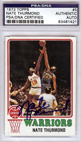 Nate Thurmond Autographed 1973 Topps Card #5 PSA/DNA #83461421 by Topps