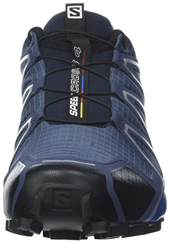 Salomon Men's Speedcross 4 Trail Running Shoes, Blue (Slateblue/black/blue Yonder), 9 UK
