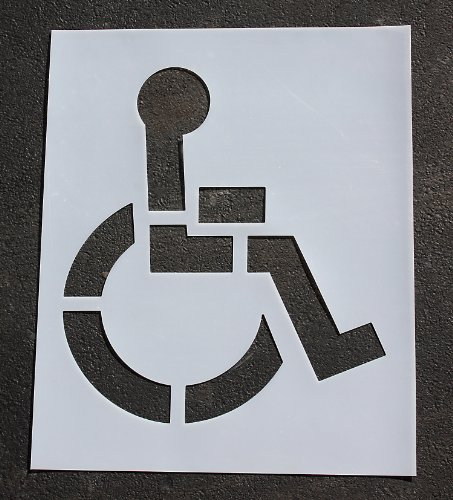 RAE Pavement Stencil, 48 in, Handicap, 1/16