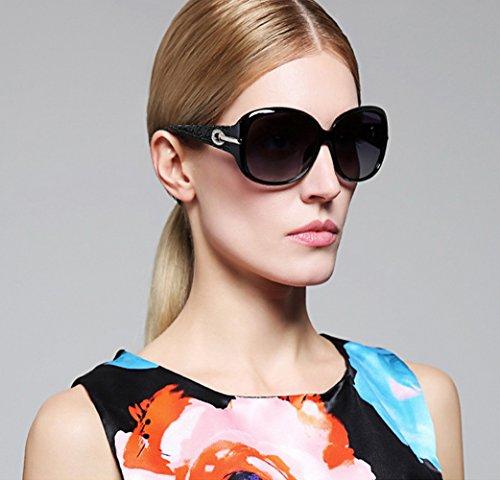 2c571bb567d Duco Women s Shades Classic Oversized Polarized Sunglasses 100% UV  Protection 6214 (Blak Frame Gray Lens)  Amazon.ca  Clothing   Accessories